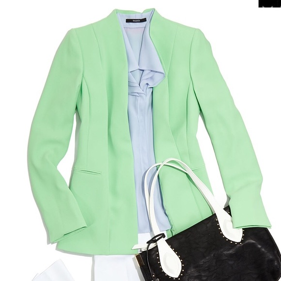 Catherine Malandrino Women/'s Classic Long Sleeve Black Blazer Suit Size 12 NWT